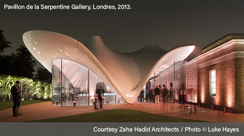 Oeuvre de Zaha Hadid - Pavillon de la Seprentine Gallery à Londres