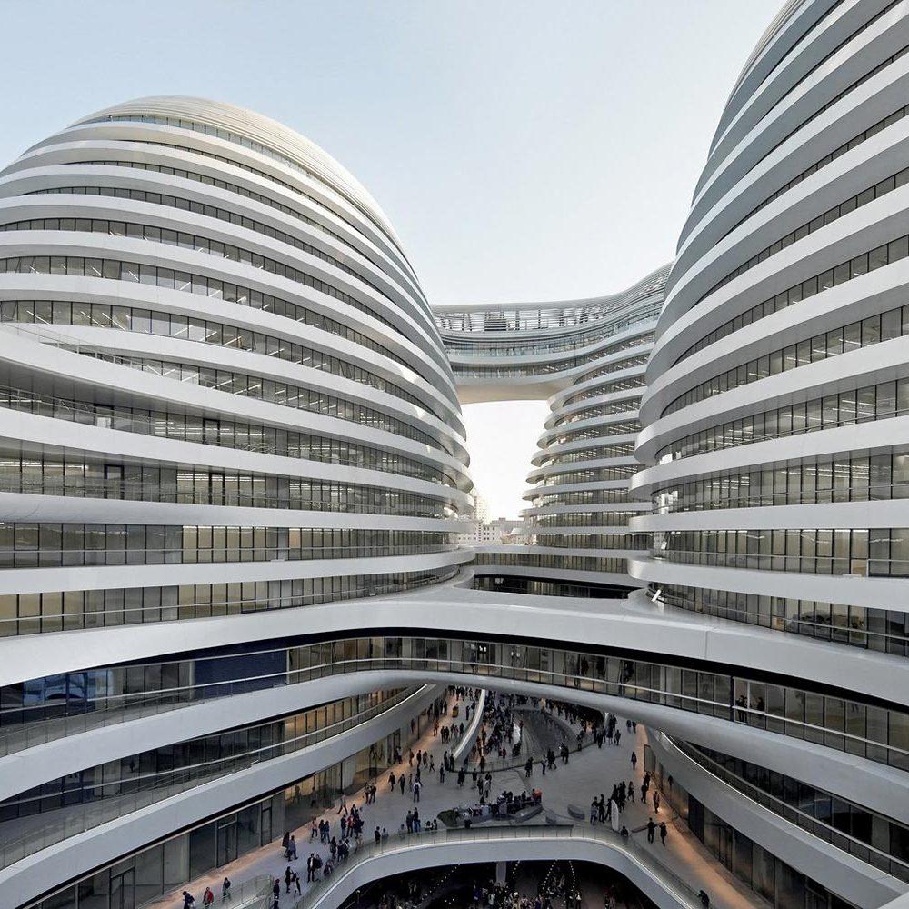 Oeuvre de Zaha Hadid - Le Galaxy Soho de Pékin