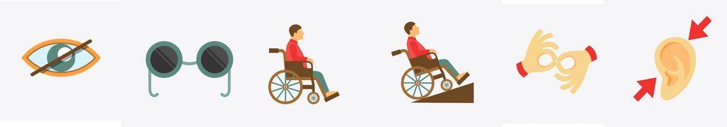 Illustration des différents handicaps