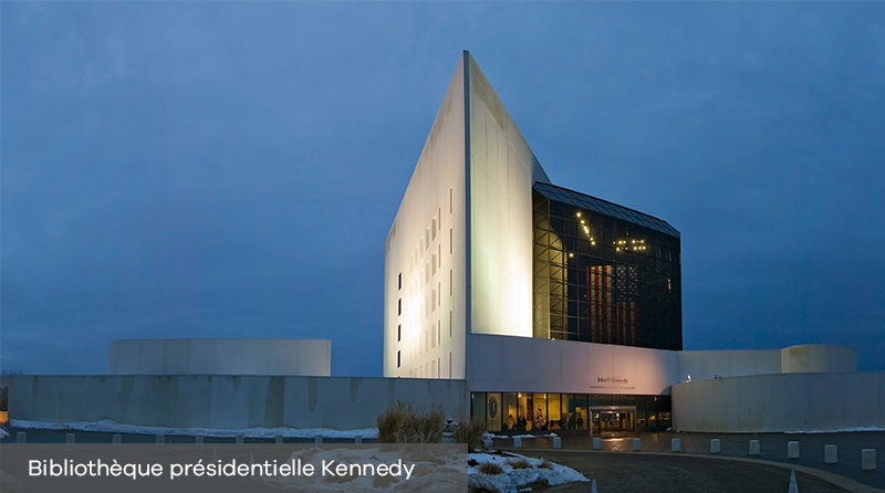 "Décès de Ieoh Ming Pei : son oeuvre ""John F. Kennedy Library"" à Boston"