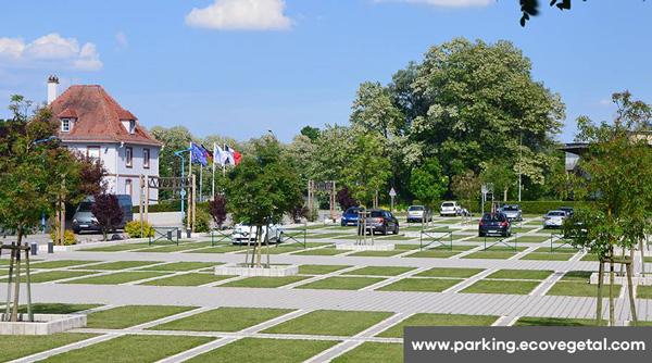 Le parking végétal par Ecovegetal à Lauterbourg