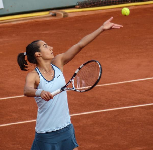 Caroline Garcia, ambassadrice du tournois open 6eme Sens lors du WTA Tennis